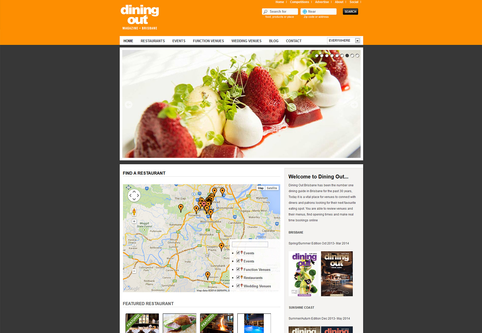 Dining Out Magazine Brisbane's homepage