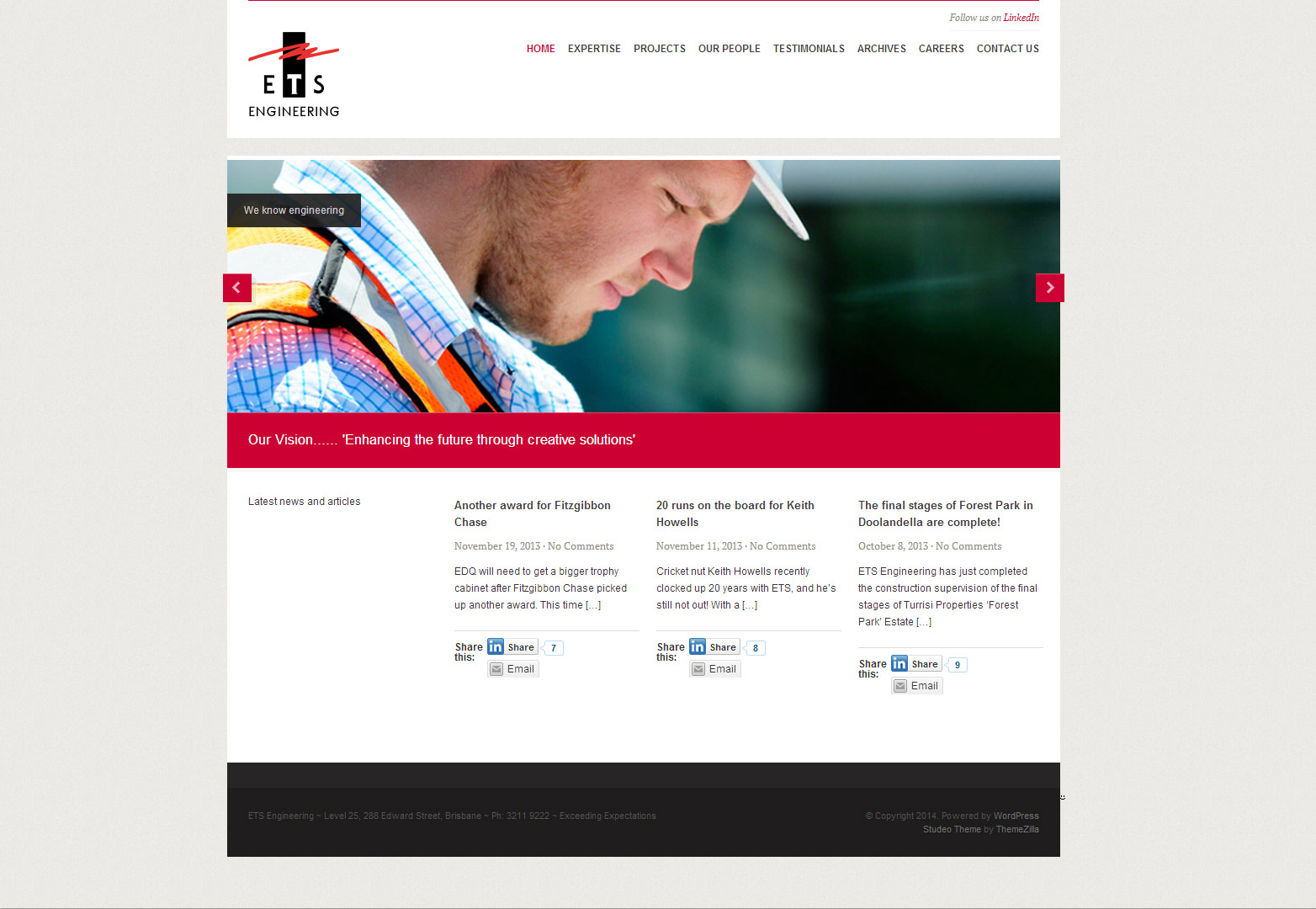 ETS home page