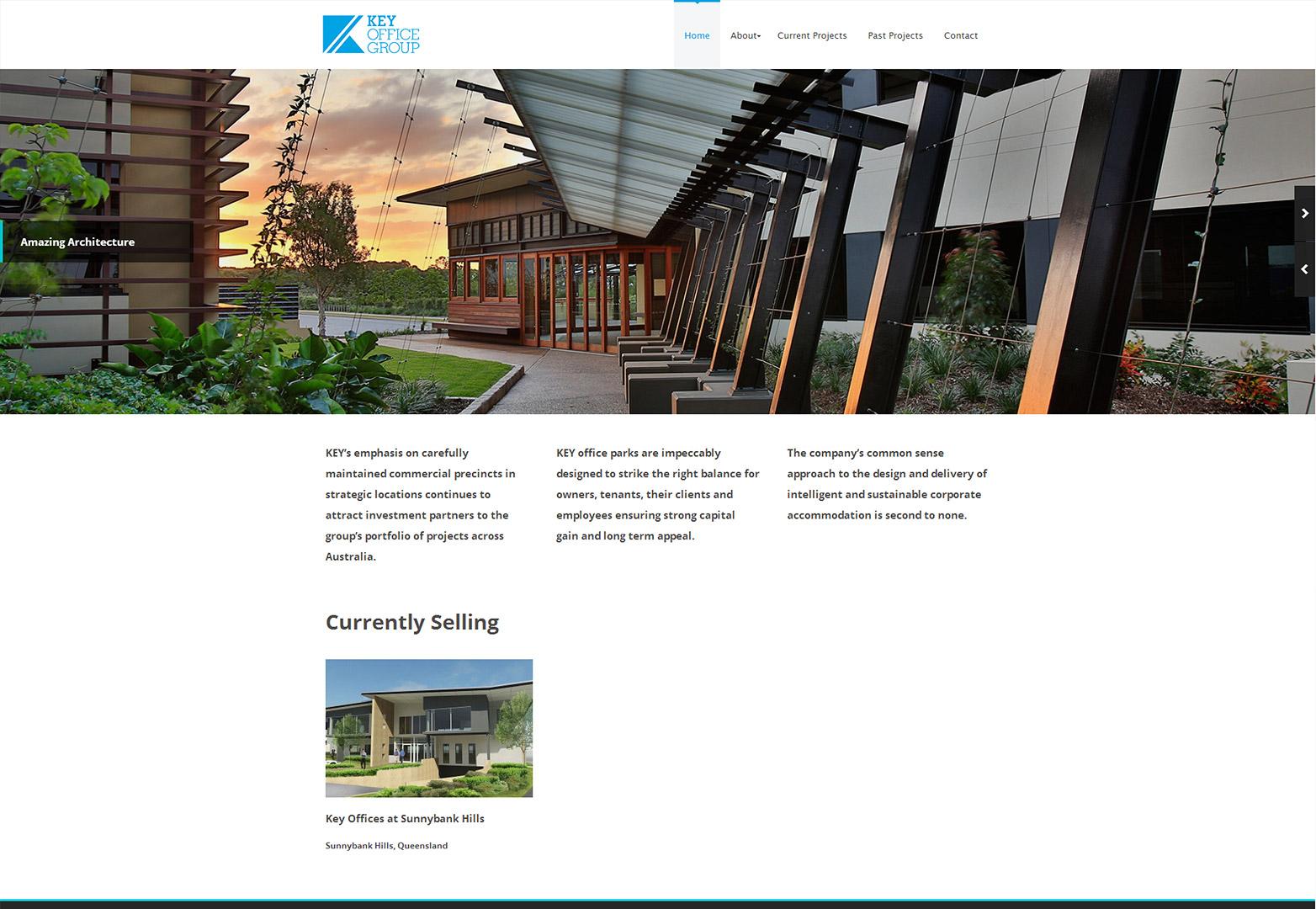 Key Office Group homepage desktop view