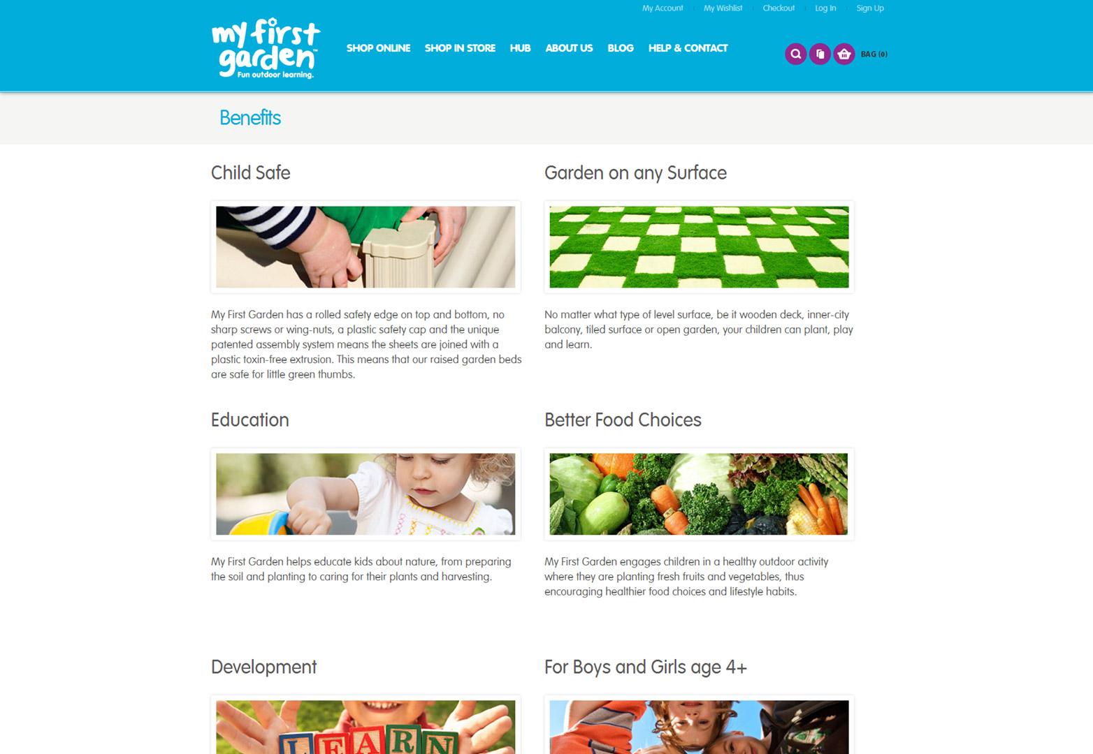 My First Garden benefits page