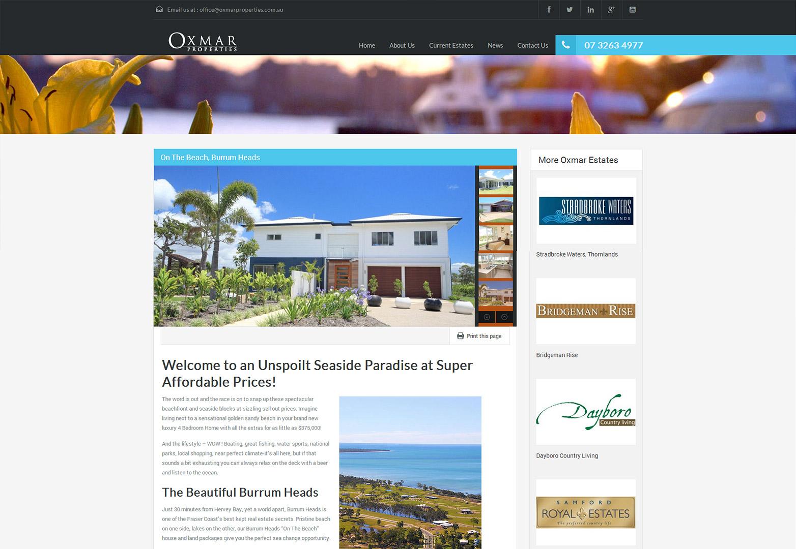 Oxmar listing page
