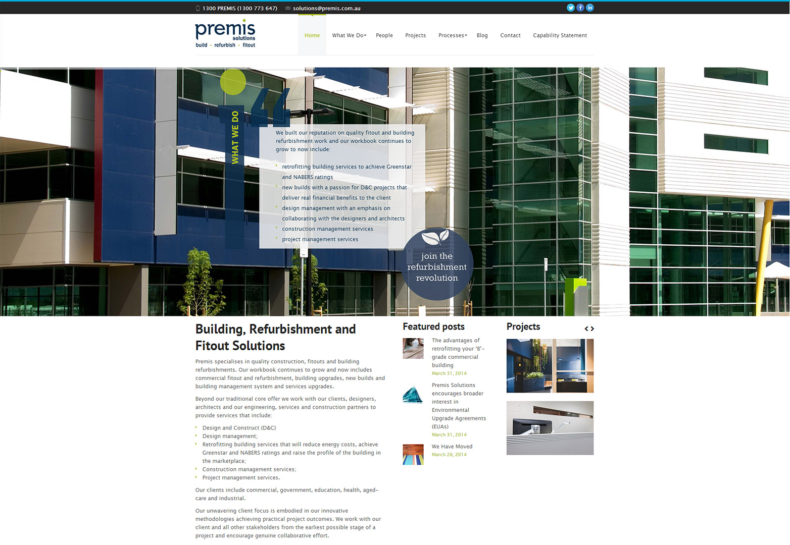 Premise Solutions homepage