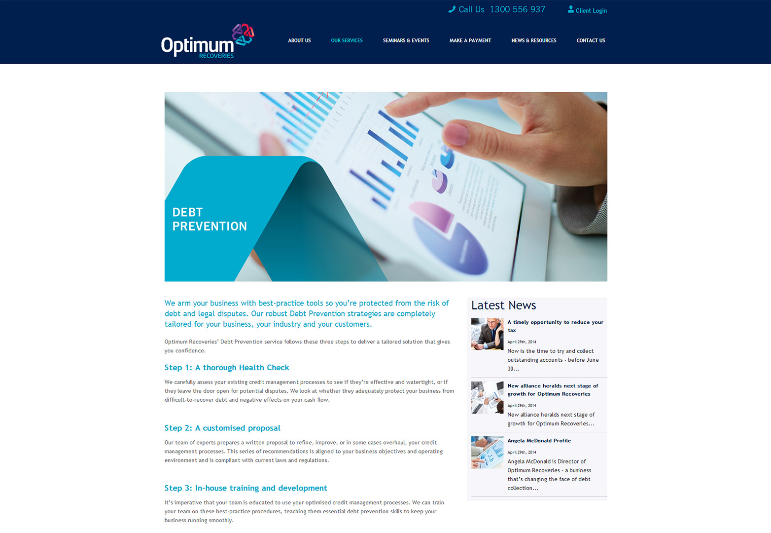Optimum Our Services page