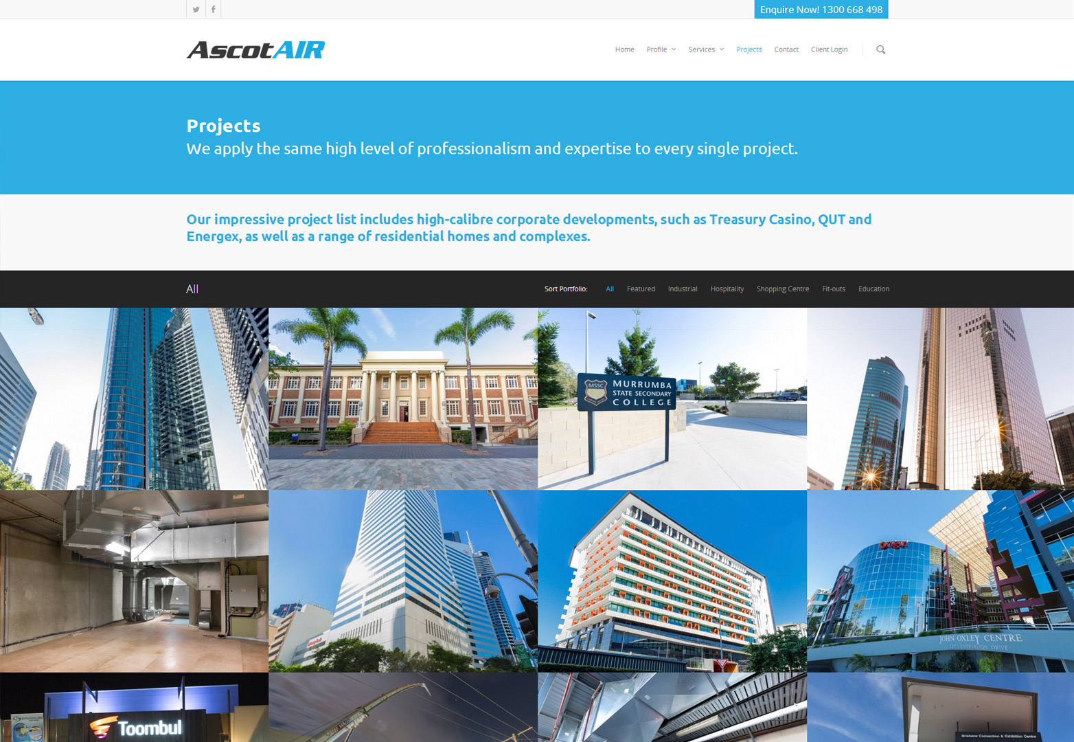 AscotAir projects page