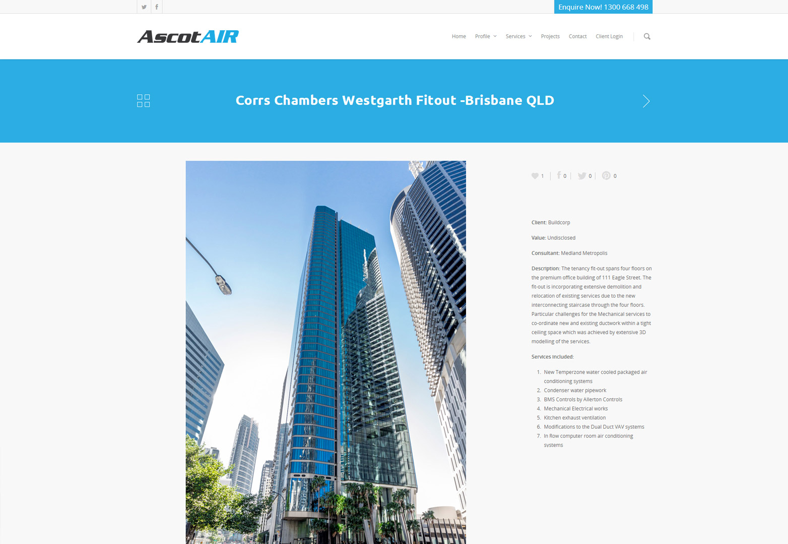 AscotAir inner portfolio page
