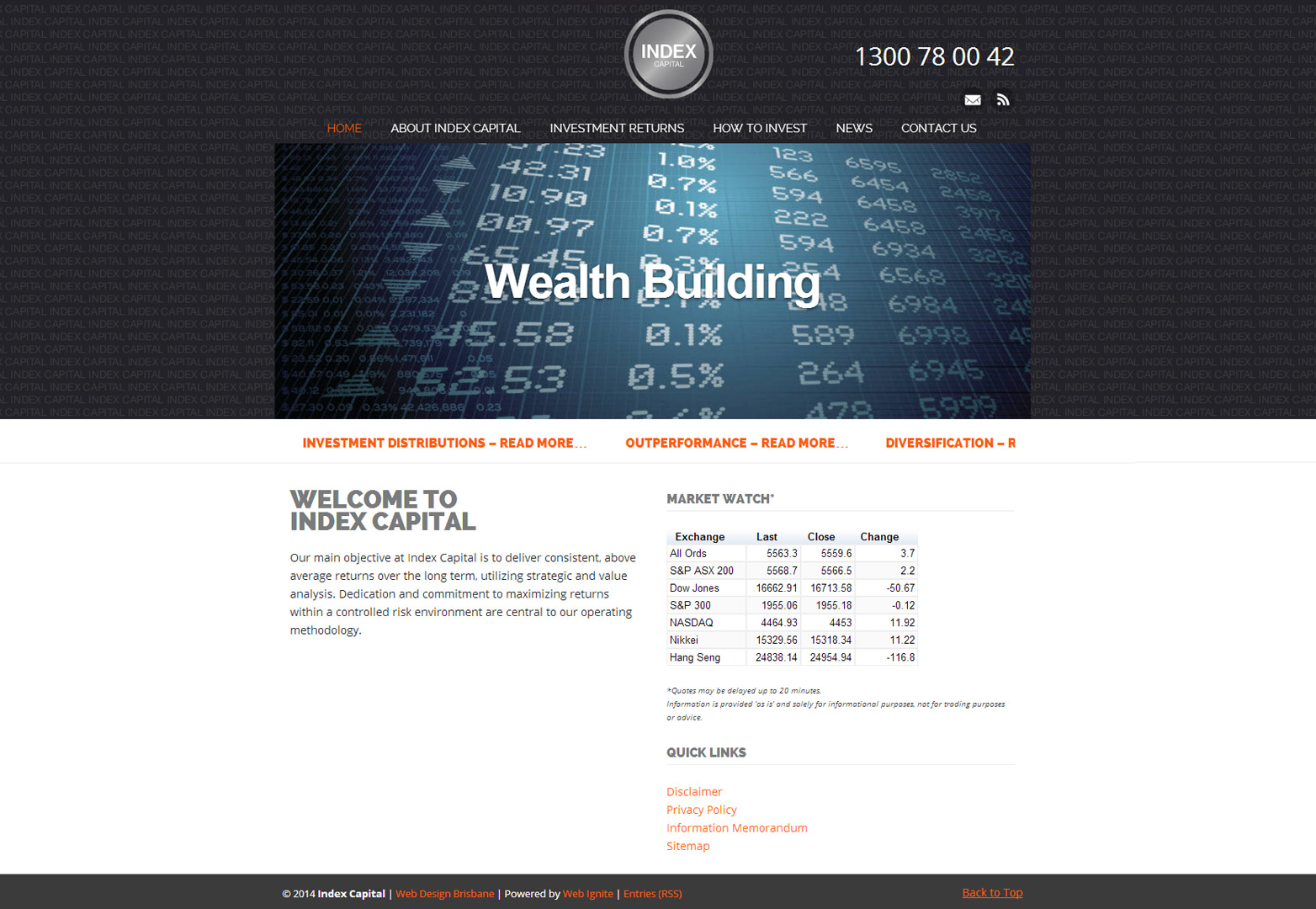Index Capital homepage in desktop view