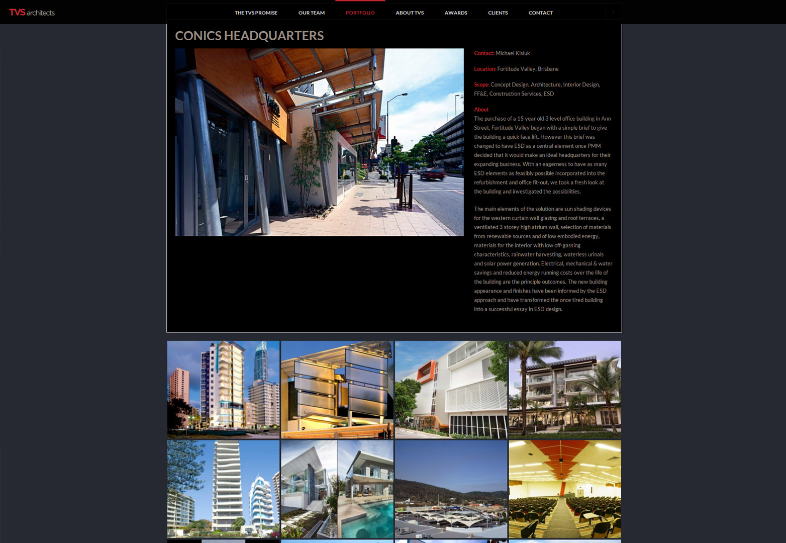 TVS Architects portfolio page