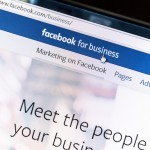 Close up of Facebook for business webpage
